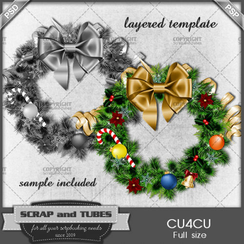 .Christmas Wreath Template_PV_S and T