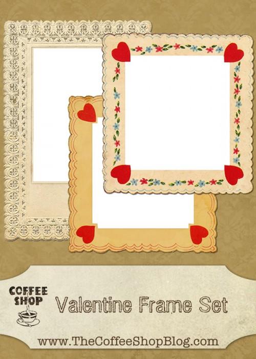 CoffeeShop Valentine Frames ad