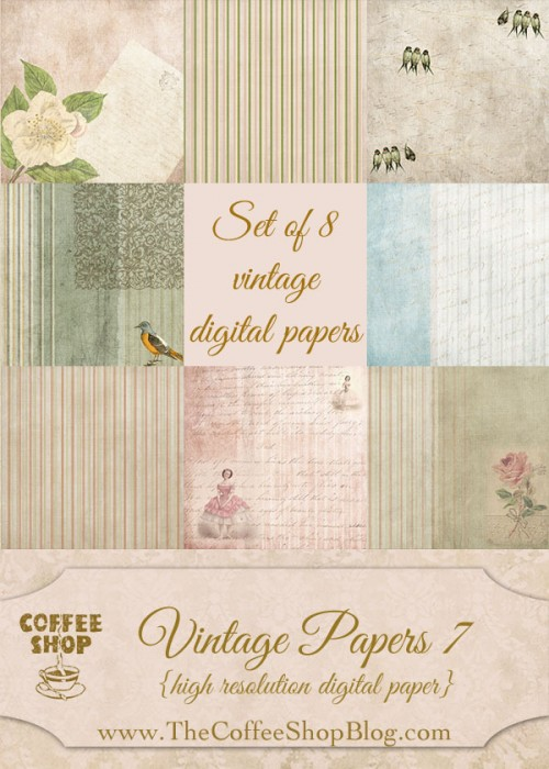 CoffeeShop Vintage Papers 7 ad
