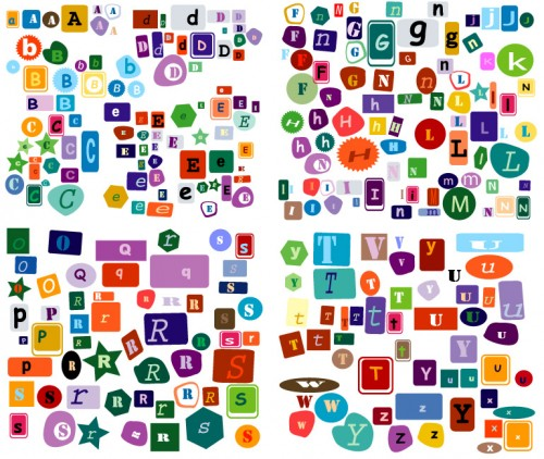 Letters of the alphabet vector material ... : スクラップブッキング無料素材ダウンロード : 無料