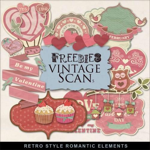 Retro Style Romantic Elements