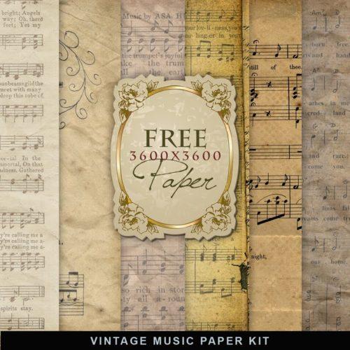 Free Printable Vintage Music Paper