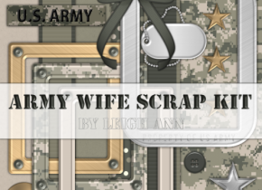 Army Wife Scrap Kit