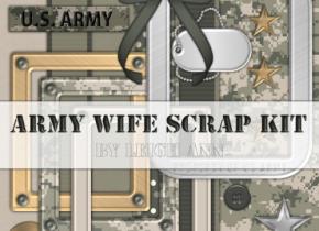 Army Wife Scrap Kit