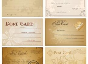 vintage-postcards-set-vector