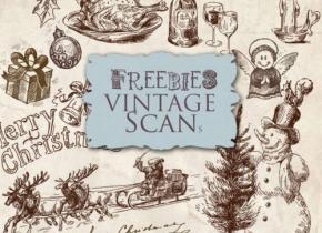 Freebies Old Naive Christmas Illustrations