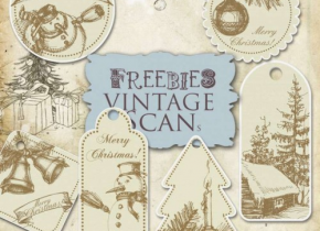 Freebies Old Naive Christmas Labels